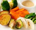 季節のオーガニック野菜 鉄板グリル バーニャカウダ風